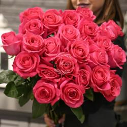 Хит! Букет 25 роз Пинк Флойд (Эквадор 60 см)