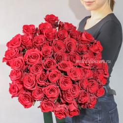 Хит! Букет 51 красная роза Эксплорер (Эквадор 50 см)