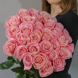 Хит! Букет 25 розовых роз Эрмоза (Эквадор 60 см)