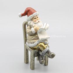 """Фигурка декоративная """"Дед Мороз на стуле"""", арт.743928"""