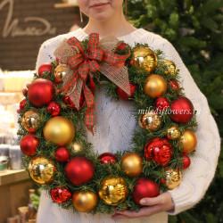 "Рождественский венок ""Золото"""