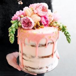 Цветочное оформление торта (1 ярус)