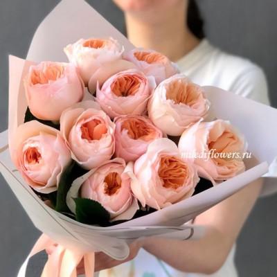 Букет из пионовидных роз Джульетта (11 шт)