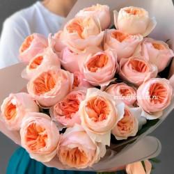 Букет из пионовидных роз Джульетта (21 шт)