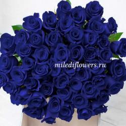 Монобукет из 51 синей розы