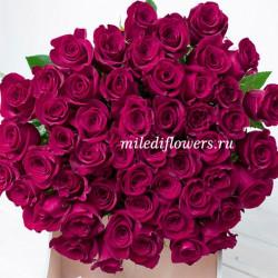 Монобукет из 51 розовой розы